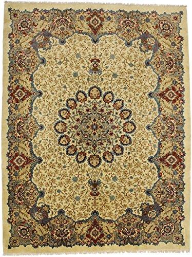 Elegant Palace Size Classic Beige Kashan Persian Style Rug Oriental Area Carpet 11X15 - Kashan Beige Classic Rug