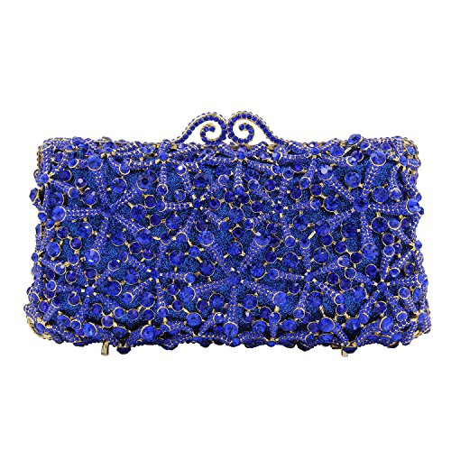Green Bag Evening Bag Wedding Pedreria Woman Clutch Blue Flada Party Bag waxATqUt