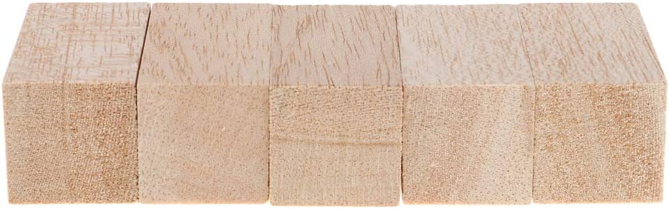 and DIY Projects for Home Decor Unfinished Hardwood Craft Sticks 5Pcs Balsa Wood Dowel Rods Blocks Wedding Party Favors Prop Sticks 30x30x60mm Crafts