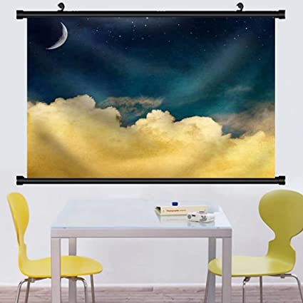 Amazon.com: Gzhihine Wall Scroll A Fantasy Cloudscape with Stars and ...