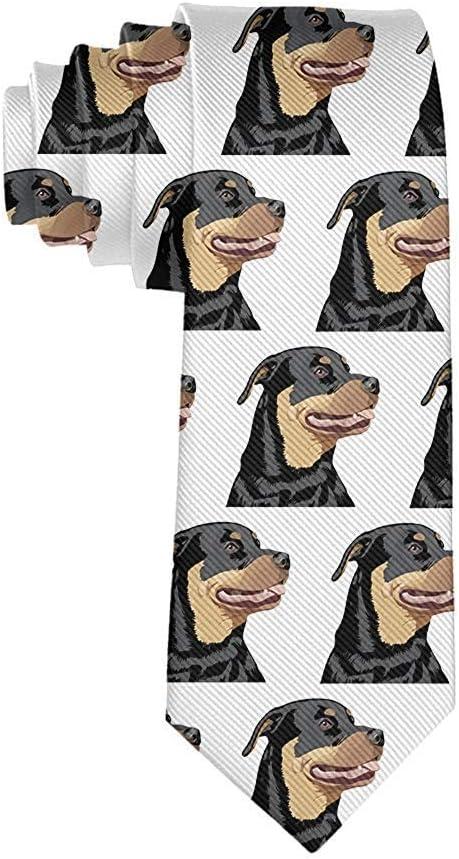 Corbata de moda para hombre Corbata de cabeza Rottweiler ...
