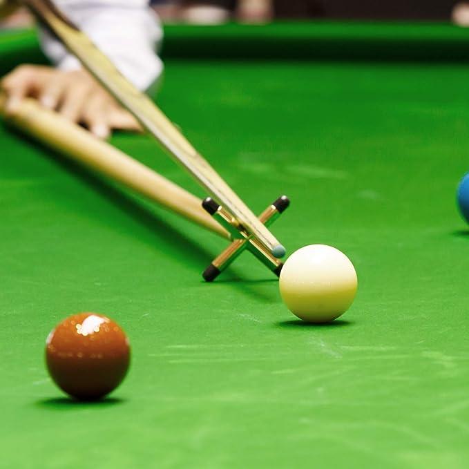 Brass Coated Metal Snooker Pool Table Cue Stick Rest Set Bridge Head