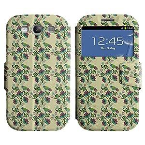 LEOCASE Flores Silvestres Funda Carcasa Cuero Tapa Case Para Samsung Galaxy S3 I9300 No.1000015