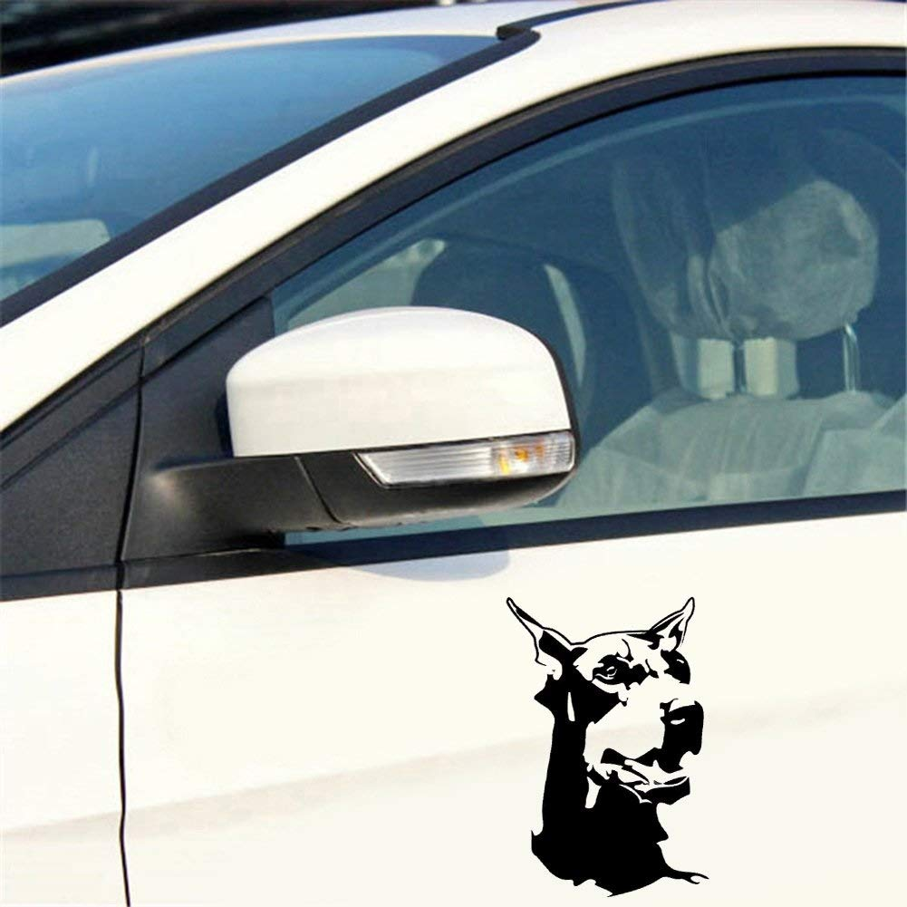 Approx. Noir 9.2cm x 14.7cm//3.62 x 5.79 YHUJH Home Autocollant de Voiture Doberman Dog Animal Car Styling Stickers V/éhicule Moto Body Stickers D/écor