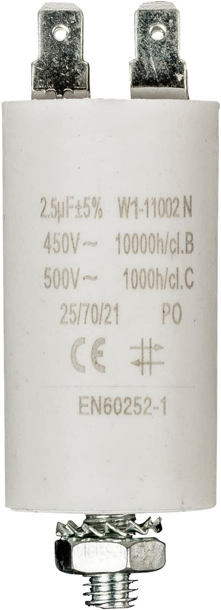 Fixapart - Condensador 2.5Uf / 450 V + Tierra: Amazon.es: Electrónica