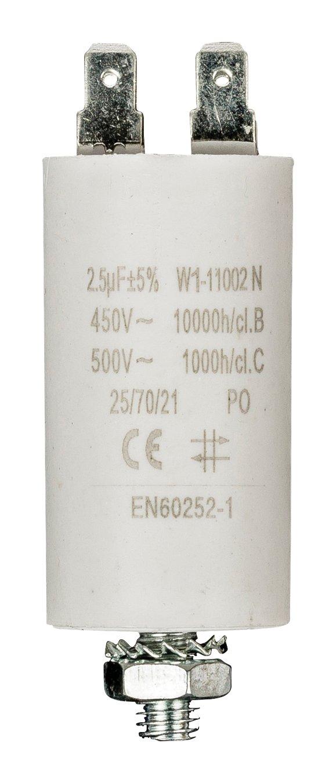 Fixapart W1-11060N Fixed capacitor Cilindrico Bianco condensatore