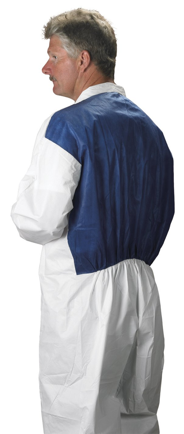 Lakeland MicroMax NS Cool Suit Microporous Coverall, Open Cuff, X-Large, White (Case of 25) by Lakeland Industries Inc (Image #4)