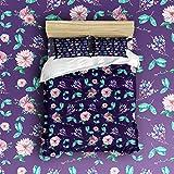 Beauty Decor Bedding 4 Piece bed Set Duvet Cover,flowers 4 Piece Bed Sheet Set 1 Flat Sheet 1 Fitted Sheet and 17 Pillow Cases