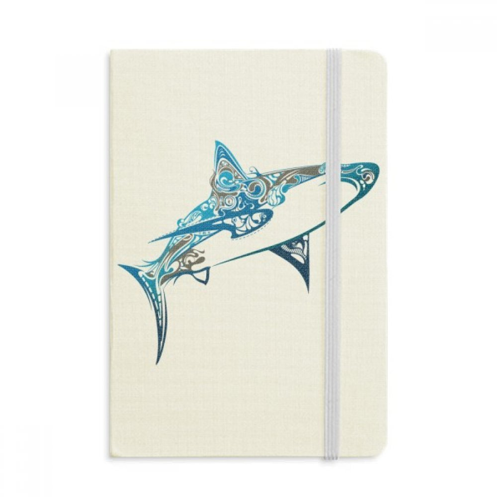 Blue Ocean Shark Biology Fish Notebook Fabric Hard Cover Classic Journal Diary A5