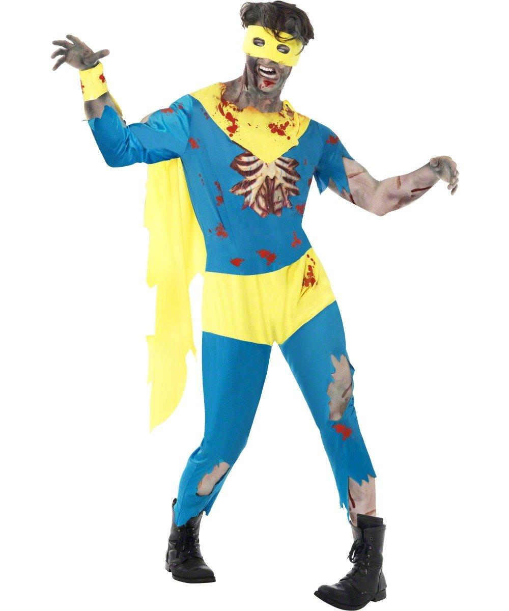 Zombie Superhero Costume, Halloween Alley Fancy Dress, Chest 42