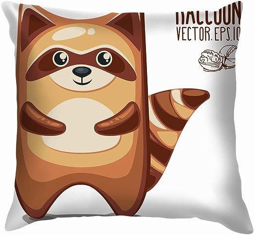 shizh Tarjeta de mapaches de Dibujos Animados Cute Raccoon Animals ...