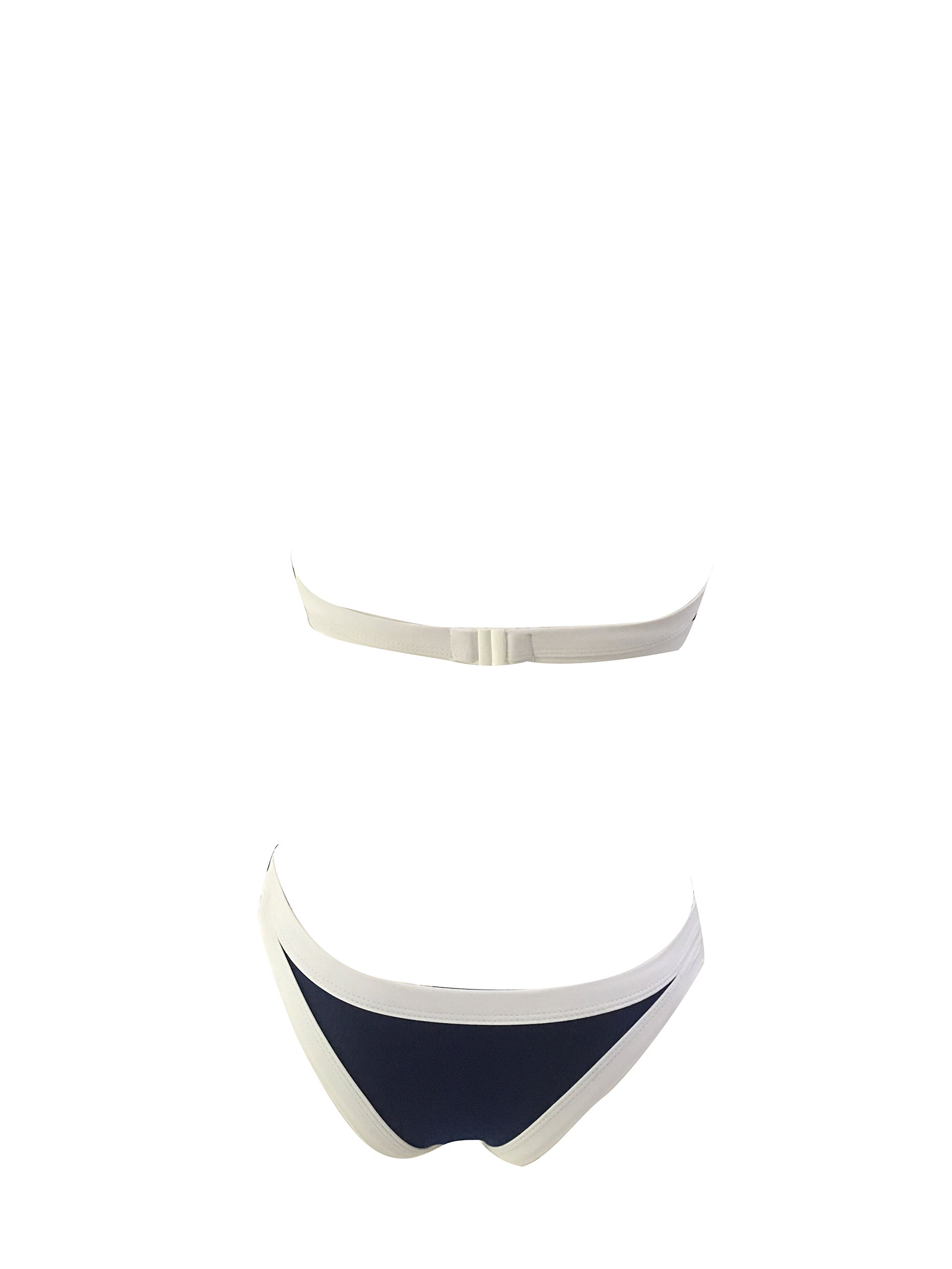 DFXIU Push up Padding High Neck Sports Bikini Set (, Deep Blue)