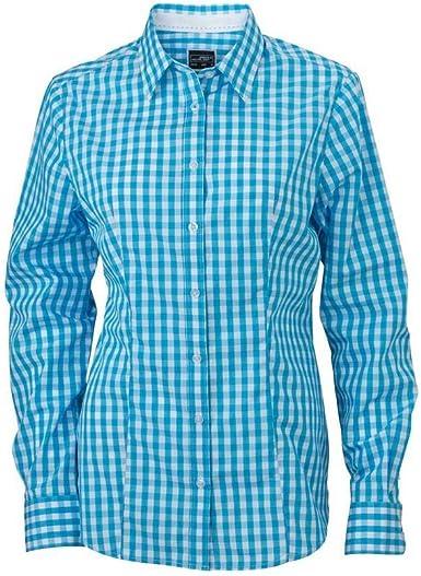 James and Nicholson - Camisa de Cuadros para Mujer señora (S ...