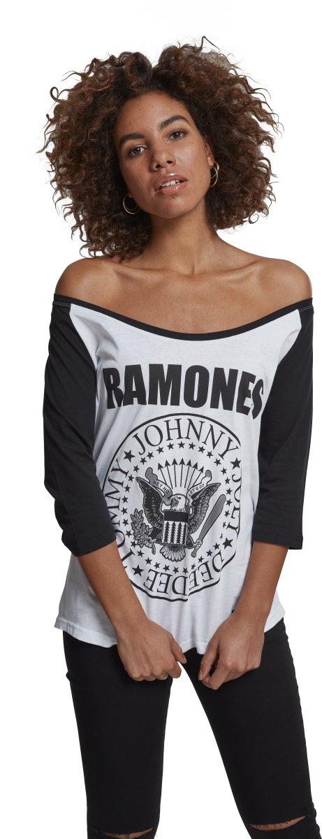 MERCHCODE Merch codice Donna Ramones Circle Raglan Tee–Maglietta