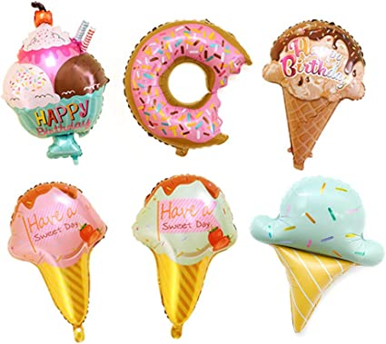 Have a Sweet Day Ice Cream Shape Aluminum Foil Balloon Wedding Party Decoration