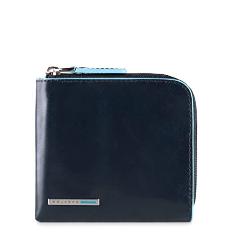 347b80e78ef Piquadro Blue Square Coin Pouch, 0.5 Liters, - Blu Notte: Amazon.in: Bags,  Wallets & Luggage