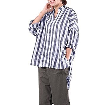 YJYDADA - Camiseta de Manga Larga con Cuello en V para Mujer ...