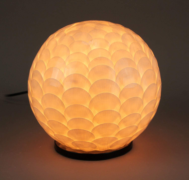 Amazon.com: Lámpara de concha capiz blanca con diseño de ...