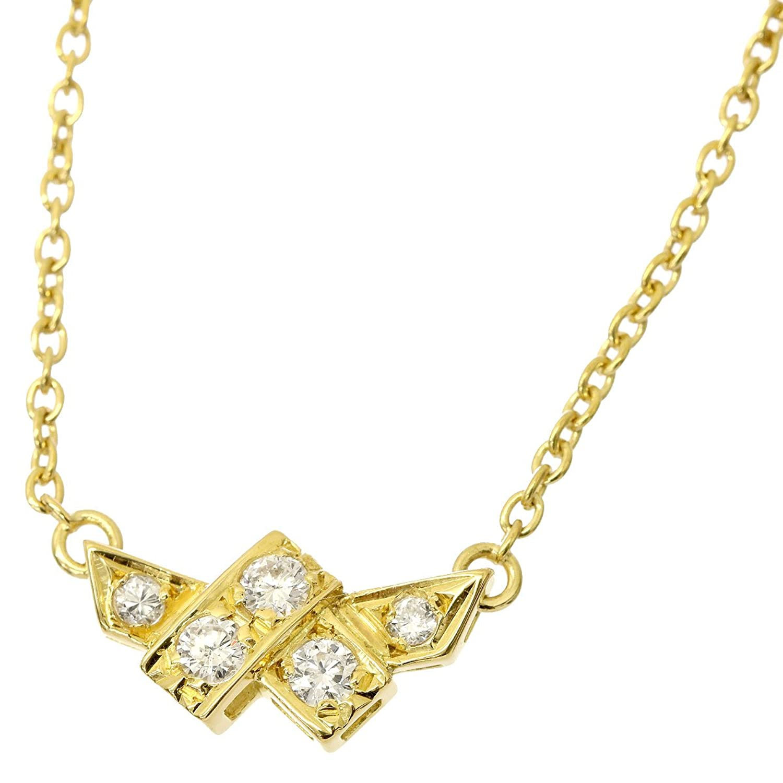クリスチャン ディオール Christian Dior ダイヤ ネックレス K18YG 38cm 18金イエローゴールド 750 【中古】 90049366 B07DG1FZTL