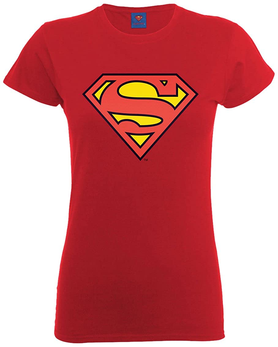DC Comics Official Superman Shield Womens T-Shirt, Maglietta Donna DC0003386