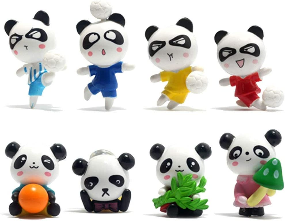 Toosunny Fridge Magnets Panda Refrigerator Office Magnets for Calendars Whiteboards Maps Resin Fun Decorative Decoration, 8 Pack