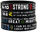 """Power of Faith"" Bible Verse Wristbands - Christian Religious Jewelry Gifts from Ezekiel Gift Co"