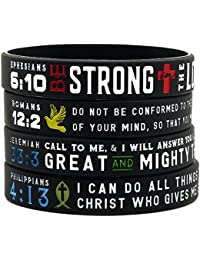 """Power of Faith"" Bible Verse Wristbands - Christian Religious Jewelry Gifts"