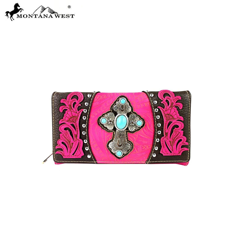 MW273-W010 Montana West Spiritual Collection Secretary Style Wallet