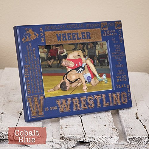 Coach Frame (Wrestling Picture Frame Personalized -Wood Engraved Sports Senior Gift, Coach Gift)
