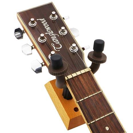 SunYueY Ganchos para Colgar Guitarra, Gancho de Pared Seguro para bajo eléctrico acústico
