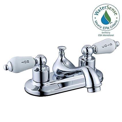 Glacier Bay Teapot 4 in. Centerset 2-Handle Low-Arc Bathroom Faucet ...