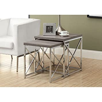 monarch 2piece nesting tables large dark taupe