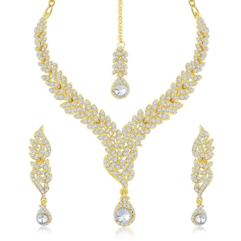 Buy Sukkhi Fine Gold Plated Australian Diamond Stone Studded ...