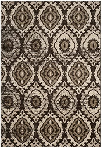 Safavieh Tunisia Collection and Cr me Area Rug, 8 x 10 , Brown
