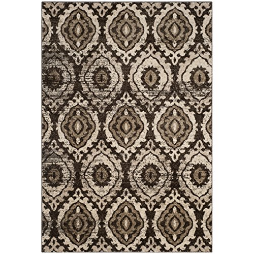 Safavieh Tunisia Collection and Cr me Area Rug, 4 x 6 , Brown