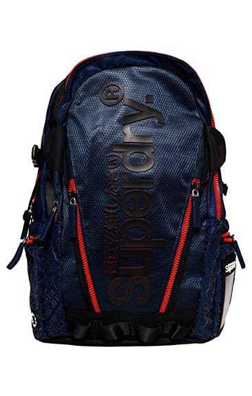 the latest e1aa6 84ecc Superdry Herren Diamond AOP Tarp Backpack Rucksack, Schwarz, 27x46x15 cm