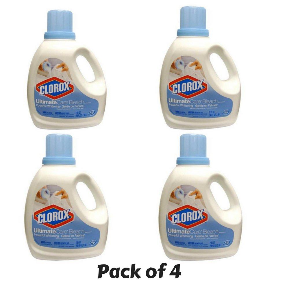 Clorox 01693 UltimateCare Premium Bleach, 90 fl oz Bottle - PACK of 4