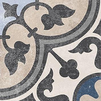 Bodenfliesen Zement Retrooptik Dekor 13 18 6x18 6x0 8cm 1 Krt 1
