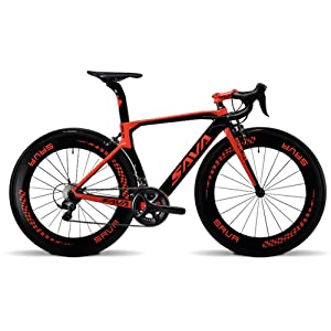 SAVADECK Phantom 2.0 700C Road Bike Size 48CM/52CM Carbon Fiber Frame Carbon Fork with SHIMANO Ultegra 6800 22 Speed System Maxxis Sierra 23C Tire Fizik Saddle