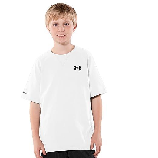 fbb7514e1 Amazon.com: Under Armour Big Boys' UA Charged Cotton® Short Sleeve T-Shirt  (YXS, White): Clothing
