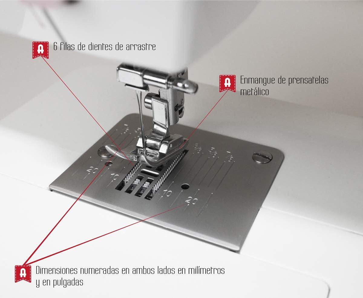 Alfa Style 40-Máquina de Coser Morada. Tamaño Estándar, 30 x 19 x ...