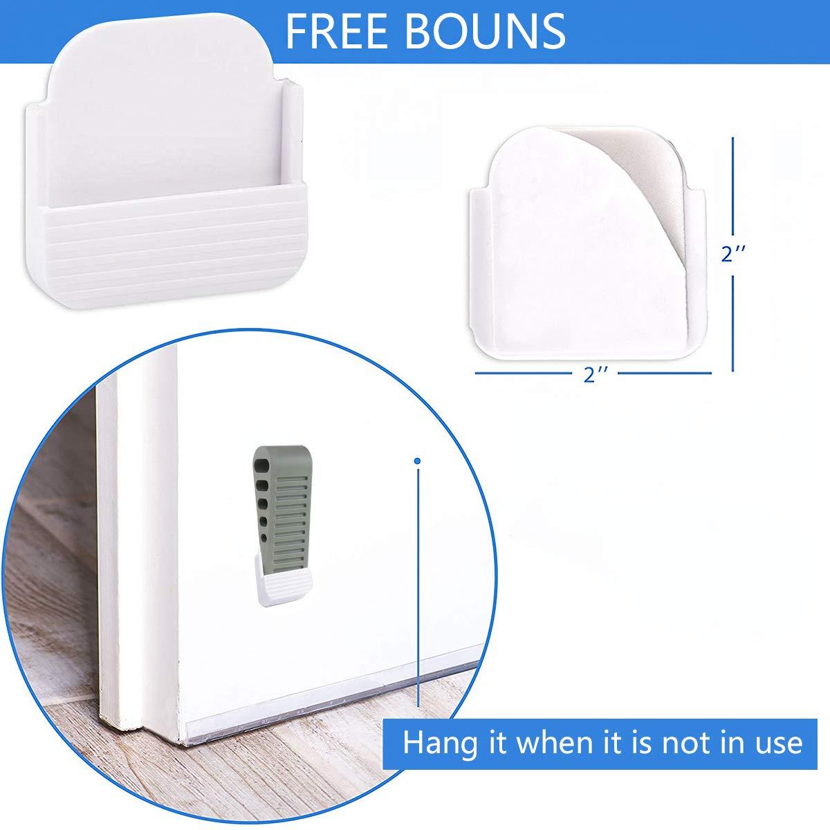 Prevents Pinching of Small Child Fingerss Premium Rubber Door Stops Decorative Door Stoppers Black-4 Non-Toxic No unpleasant Door Stopper Works on All Floor Surfaces