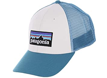 0cc1beec860 Patagonia P-6 LoPro Trucker Snapback Hat White Filter Blue Mens One ...