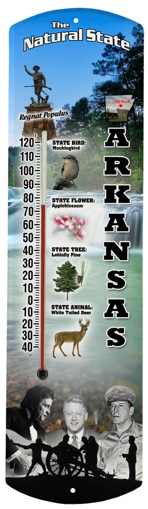 Heritage America by MORCO 375AR Arkansas Outdoor or Indoor Thermometer, 20-Inch