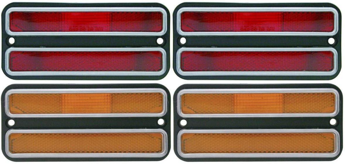 United Pacific 1967-1972 Chevy Gmc Truck Backup Light Lenses Pair
