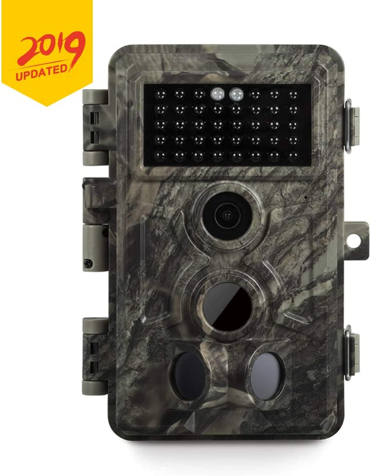 Meidase Game Trail Cameras 20MP 1080P, No Glow Night Vision 65ft, Motion Detecting Trigger Time 0.2s, Waterproof IP66 Field Cam for Nature Wildlife Deer Scouting Hunting, Indoor Outdoor Security