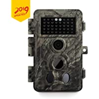 Meidase Game Trail Cameras 20MP 1080P, No Glow Night Vision 65ft, Motion Detecting Trigger Time 0.2s, Waterproof IP66 Field Cam for Nature Wildlife Deer Scouting & Hunting, Indoor & Outdoor Security