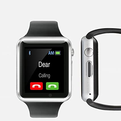 Bluetooth Smart Watch with Camera, TechFaith A1 Smart Watch for Android Smartphones (Black)