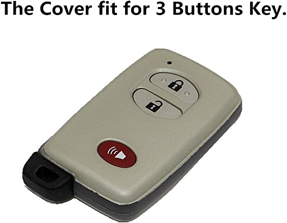 Green Silicone Remote Key Cover Holder Cover 3 Buttons Fit For Toyota