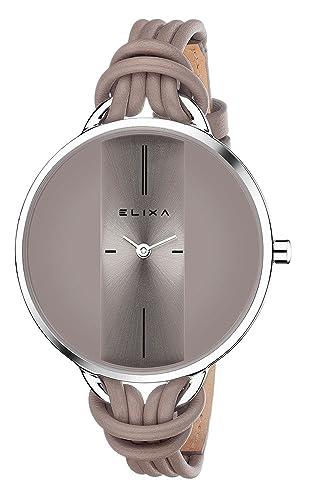 elixa Mujer Reloj De Pulsera Finesse analógico de cuarzo pulsera de piel E096 de L375 de K1: Amazon.es: Relojes